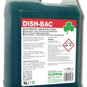 DISH-BAC BACTERICIDAL WASHING UP LIQUID 5L